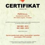 2018 Certifikat ISO  9001:2015 i ISO 14001:2015